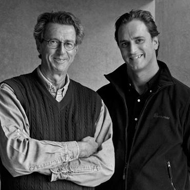 Jean-Pierre Moueix et son fils Christian